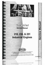 """Service Manual for Chrysler 218, 218F, 236, 236F, 251, 251 Engine"""