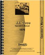 Operators Manual for Case 1570 Tractor
