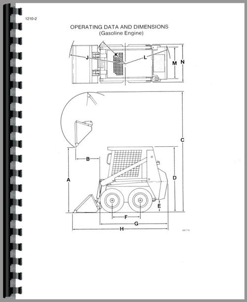 Service Manual for Case 1818 Uniloader Sample Page From Manual