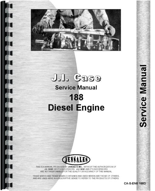 Case 188D Engine Service Manual