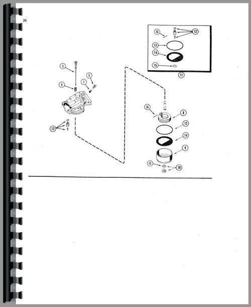 Parts Manual for Case 220 Lawn & Garden Tractor Sample Page From Manual