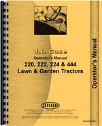 Operators Manual for Case 222 Lawn & Garden Tractor