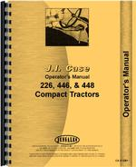 Operators Manual for Case 226 Lawn & Garden Tractor