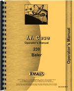 Operators Manual for Case 230 Baler