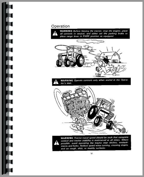 Operators Manual for Case 2390 Tractor Sample Page From Manual