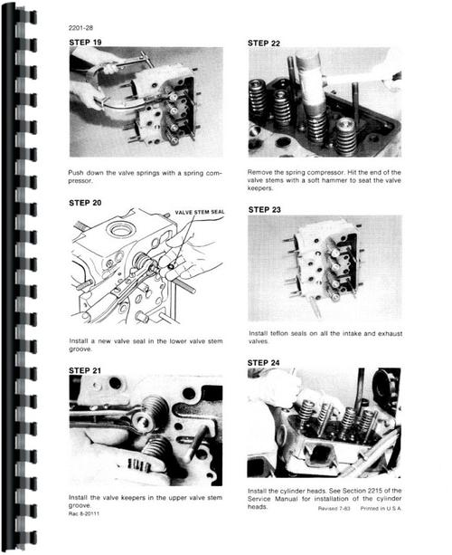 Service Manual for Case 2390 Tractor Sample Page From Manual