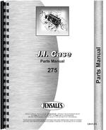 Parts Manual for Case 275 Tractor