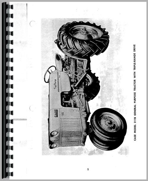 Operators Manual for Case 310B Tractor Sample Page From Manual