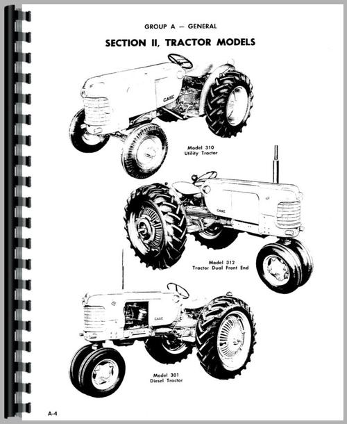 Service Manual for Case 310B Tractor Sample Page From Manual