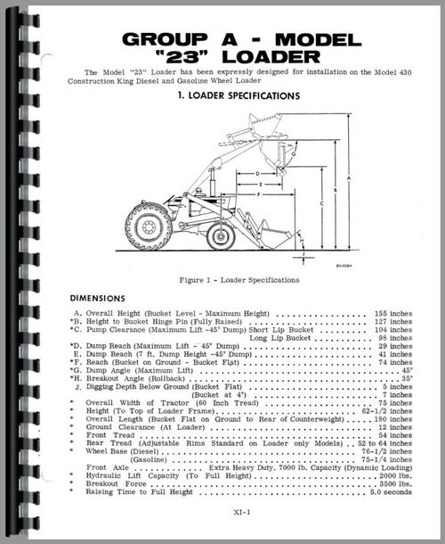 Service Manual for Case 310B Crawler Sample Page From Manual