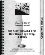 Operators Manual for Case 312 Tractor