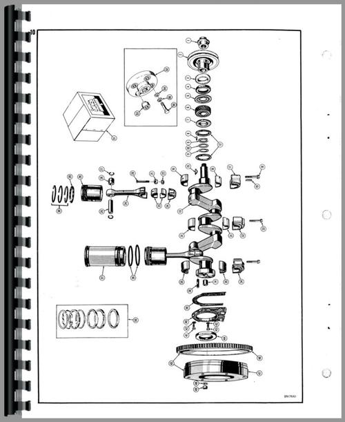 Parts Manual for Case 320 Crawler Sample Page From Manual