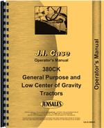 Operators Manual for Case 380 Industrial Tractor