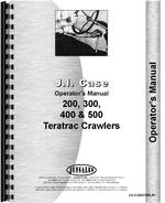 Operators Manual for Case 400 Crawler