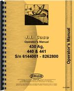 Operators Manual for Case 435 Tractor