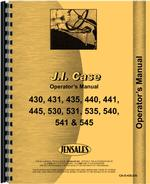 Operators Manual for Case 441 Tractor