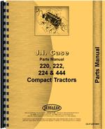 Parts Manual for Case 444 Lawn & Garden Tractor