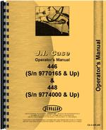 Operators Manual for Case 446 Lawn & Garden Tractor