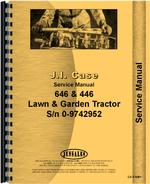 Service Manual for Case 446 Lawn & Garden Tractor