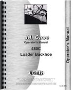 Operators Manual for Case 480C Tractor Loader Backhoe