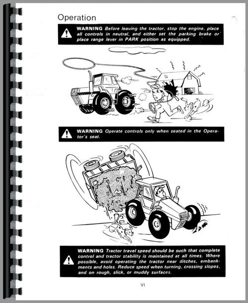 Operators Manual for Case 4890 Tractor Sample Page From Manual