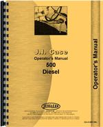 Operators Manual for Case 500 Tractor