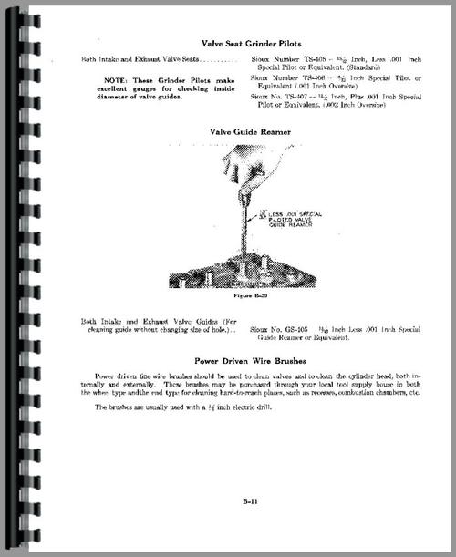 Service Manual for Case 500 Tractor Sample Page From Manual