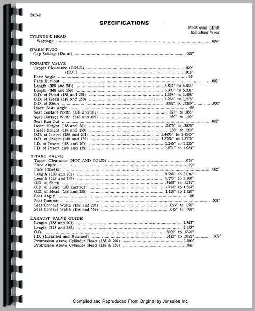 Service Manual for Case 570 Tractor Sample Page From Manual