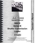 Operators Manual for Case 580B Industrial Tractor