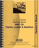 Operators Manual for Case 580C Tractor Loader Backhoe