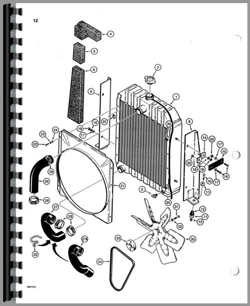 Case 580d Tractor Loader Backhoe Parts Manual
