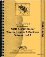 Parts Manual for Case 580D Super Tractor Loader Backhoe
