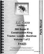 Parts Manual for Case 580E Tractor Loader Backhoe