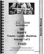 Service Manual for Case 580E Tractor Loader Backhoe