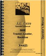Operators Manual for Case 580E Tractor Loader Backhoe