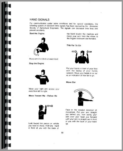 Operators Manual for Case 585 Tractor Sample Page From Manual