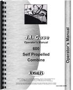Operators Manual for Case 600 Combine
