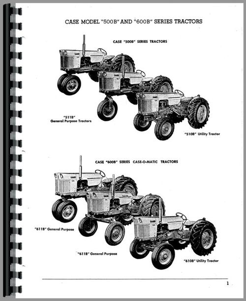Parts Manual for Case 600B Tractor Sample Page From Manual