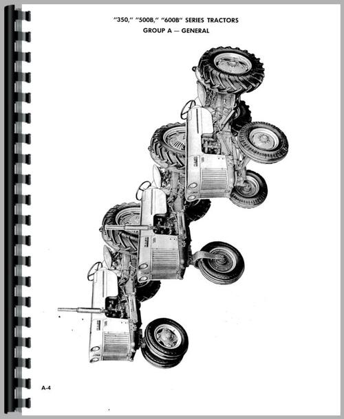 Service Manual for Case 600B Tractor Sample Page From Manual