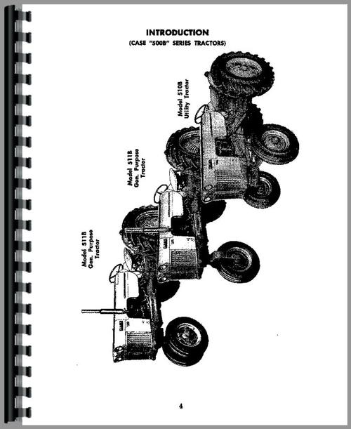 Operators Manual for Case 610B Tractor Sample Page From Manual