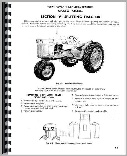 Service Manual for Case 610B Tractor Sample Page From Manual