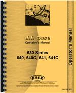 Operators Manual for Case 630C Tractor