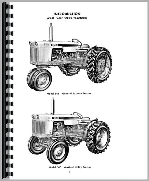 Operators Manual for Case 634C Tractor Sample Page From Manual