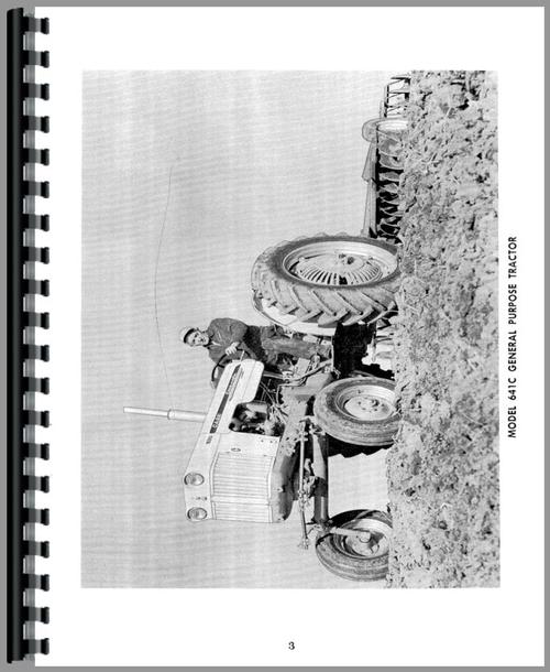 Operators Manual for Case 640 Tractor Sample Page From Manual