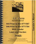 Operators Manual for Case 644 Lawn & Garden Tractor