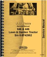 Service Manual for Case 646 Lawn & Garden Tractor
