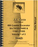 Parts Manual for Case 688 Excavator