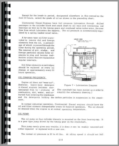 Service Manual for Case 800 Crawler Sample Page From Manual