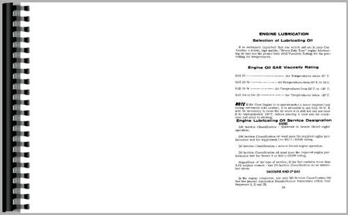 Operators Manual for Case 830 Tractor Sample Page From Manual