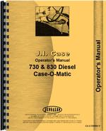 Operators Manual for Case 831 Tractor